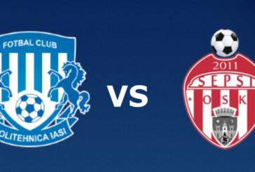 Ponturi Poli Iasi vs Sepsi Sf. Gheorghe fotbal 30 septembrie 2019 Liga 1 Romania