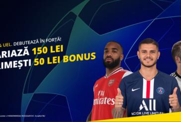 Pariaza pe Champions League si Europa League si primesti 50 RON bonus la Fortuna!