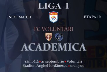 Ponturi FC Voluntari-Academica Clinceni fotbal 21-septembrie-2019 Liga 1