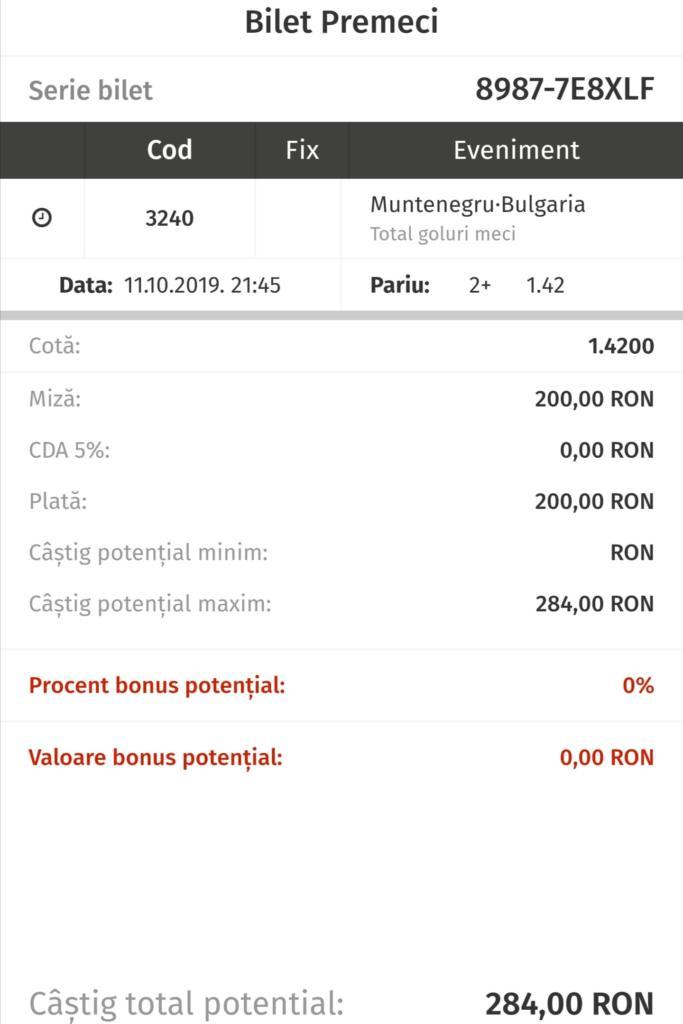 Pontul Zilei de la Tudor Popa – Vineri 11 Octombrie – Cota 1.42 – Castig potential 284 RON