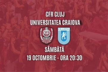 Ponturi CFR Cluj-Universitatea Craiova fotbal 19-octombrie-2019 Liga 1