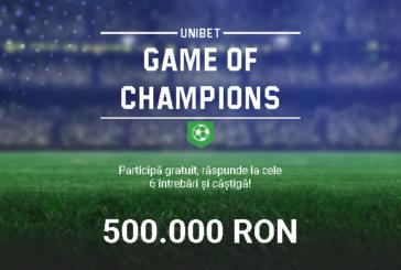 Game of Champions Predictor la Unibet!