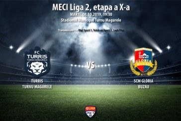 Ponturi Turris Turnu Magurele-Gloria Buzau fotbal 8-octombrie-2019 Liga 2