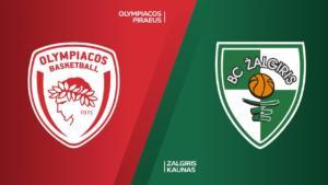 Ponturi baschet Olympiacos-Zalgiris Kaunas 15-octombrie-2021 Euroliga