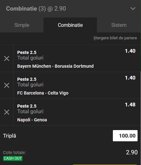 Biletul zilei fotbal ERC – Sambata 09 Noiembrie – Cota 2.90 – Castig potential 290 RON