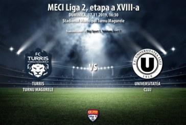 Ponturi Turris T. Magurele-U Cluj fotbal 17-noiembrie-2019 Romania Liga 2