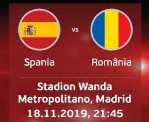 Ponturi Spania vs Romania fotbal 18 noiembrie 2019 Preliminarii Euro 2020