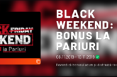 Black Weekend la Maxbet! 100% bonus la pariuri pana la 200 RON!