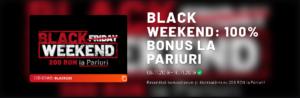 Black Weekend la Maxbet! 100% bonus la pariuri pana la 200 RON!