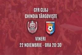 Ponturi CFR Cluj-Chindia Targoviste fotbal 22-noiembrie-2019 Romania Liga 1