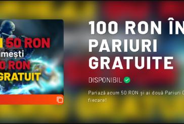 Pariaza 50 RON si primesti 2X50 RON in pariuri gratuite la Maxbet!