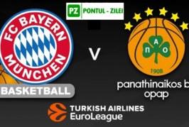 Ponturi Bayern vs Panathinaikos baschet 22 noiembrie 2019 Euroliga