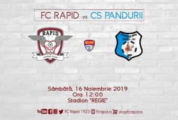 Ponturi Rapid Bucuresti-Pandurii Tg Jiu fotbal 16-noiembrie-2019 Romania Liga 2