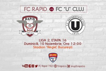 Ponturi Rapid Bucuresti-U Cluj fotbal 10-noiembrie-2019 Liga 2