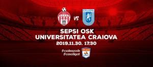 Ponturi Sepsi-Universitatea Craiova fotbal 30-noiembrie-2019 Liga 1