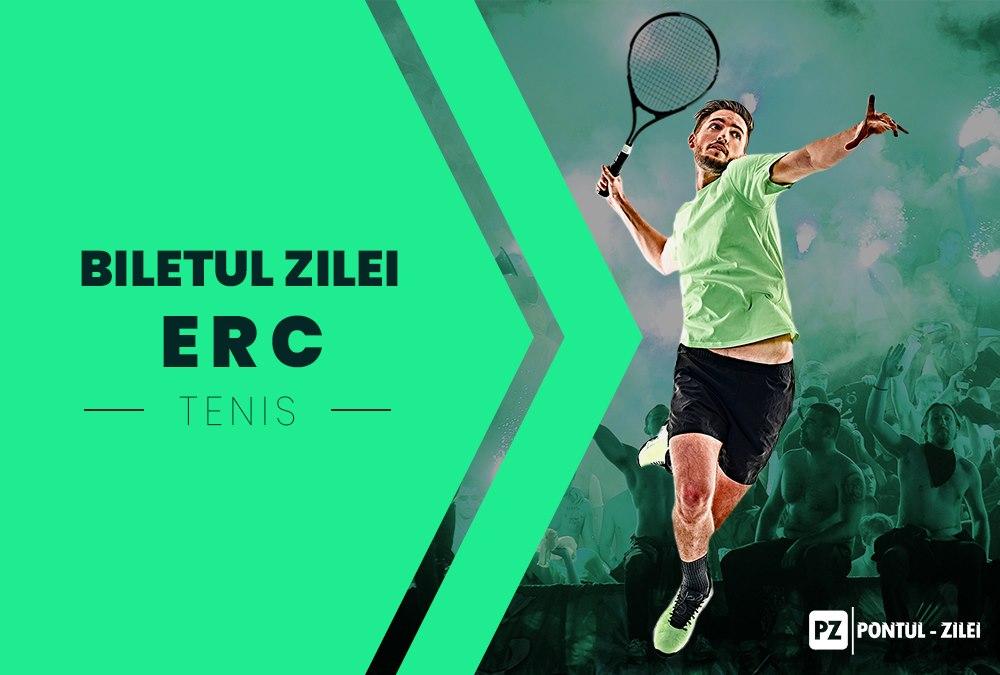 Biletul zilei tenis ERC – Duminica 25 Octombrie 2020 – Cota 2.01 – Castig potential 602 RON