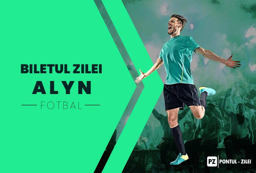 Biletul fotbal Alyn – Miercuri 15 Ianuarie 2020 – Cota 2.41 – Castig potential 241 RON