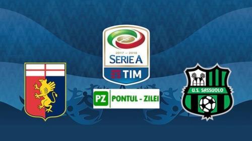 Ponturi Genoa-Sassuolo 17-octombrie-2021 Serie A