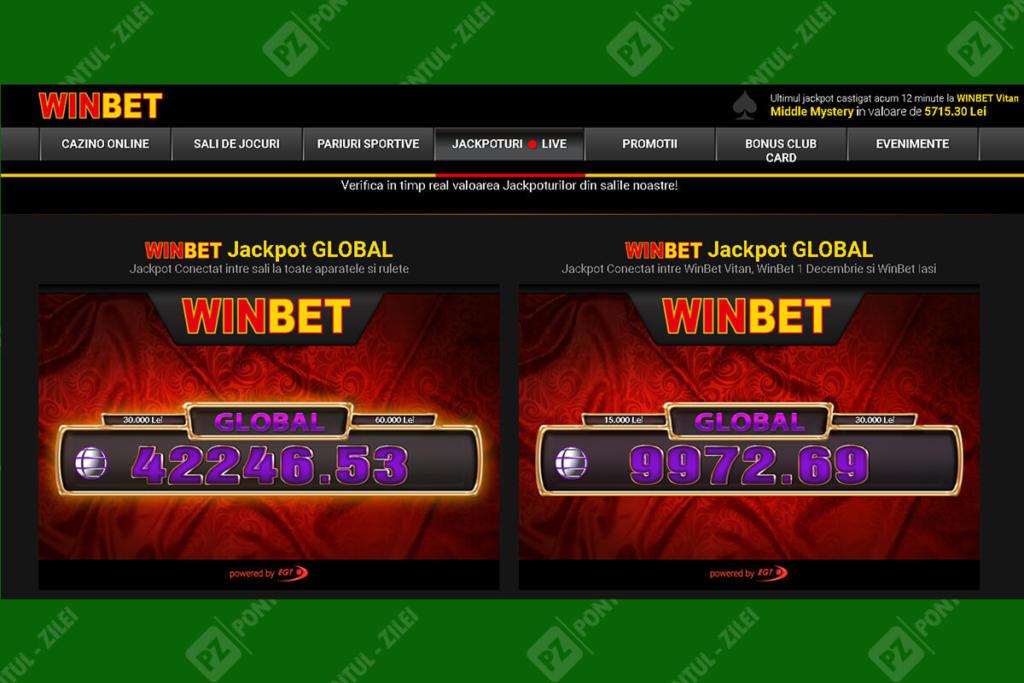 Jackpoturi si evenimente la Winbet