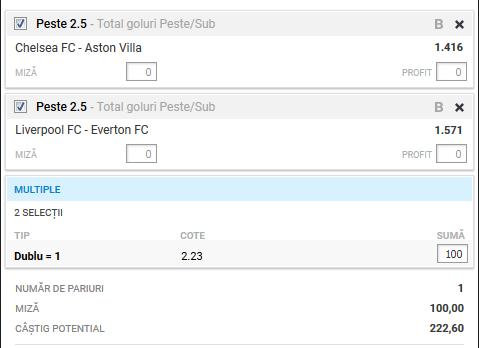 Biletul fotbal Alyn – Miercuri 04 Decembrie – Cota 2.23 – Castig potential 223 RON