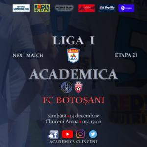 Ponturi Academica Clinceni - FC Botosani fotbal 14 decembrie 2019 Liga 1