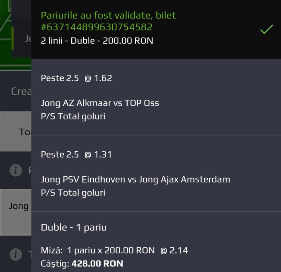 Biletul zilei fotbal Tudor – Luni 13 Ianuarie 2020 – Cota 2.14 – Castig potential 428 RON