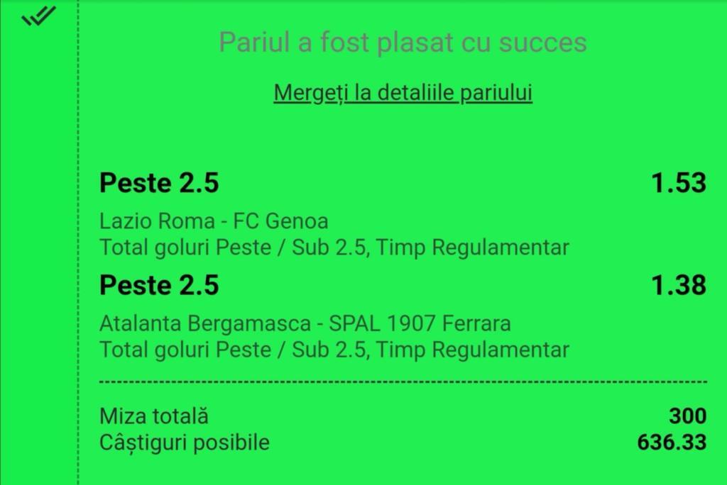 Biletul zilei fotbal Tudor – Luni 20 Ianuarie 2020 – Cota 2.12 – Castig potential 636 RON