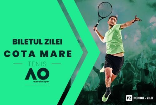 Bilet cota mare tenis – Miercuri 29 Ianuarie 2020 – Cota 9.14 – Castig potential 941 RON
