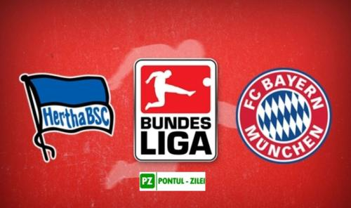 Ponturi Hertha Berlin vs Bayern fotbal 19 ianuarie 2020 Bundesliga