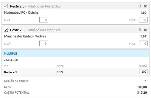 Biletul zilei fotbal ERC – Miercuri 15 Ianuarie 2020 – Cota 3.15 – Castig potential 315 RON
