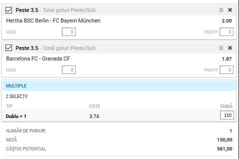 Biletul zilei fotbal ERC – Duminica 19 Ianuarie 2020 – Cota 3.74 – Castig potential 561 RON