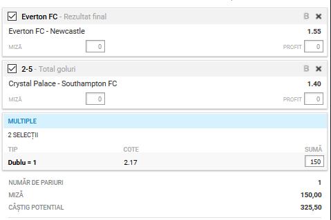 Biletul fotbal Alyn – Marti 21 Ianuarie – Cota 2.17 – Castig potential 325 RON
