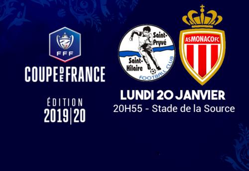 Ponturi Saint-Pryve - AS Monaco fotbal 20-ianuarie-2020 Cupa Frantei