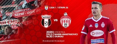 Ponturi Astra Giurgiu-Sepsi fotbal 23-februarie-2020 Liga 1