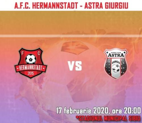 Ponturi Hermannstadt vs Astra Giurgiu fotbal 17 februarie 2020 Liga 1