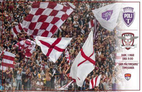 Ponturi ASU Poli Timisoara-Rapid fotbal 1-martie-2020 Liga 2