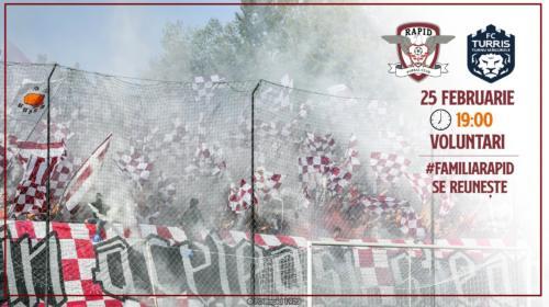Ponturi Rapid-Turris Turnu Magurele fotbal 25-februarie-2020 Liga 2