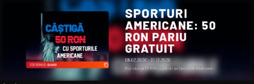 Pariaza pe sporturi americane si primesti 50 RON pariu gratuit de la MaxBet!