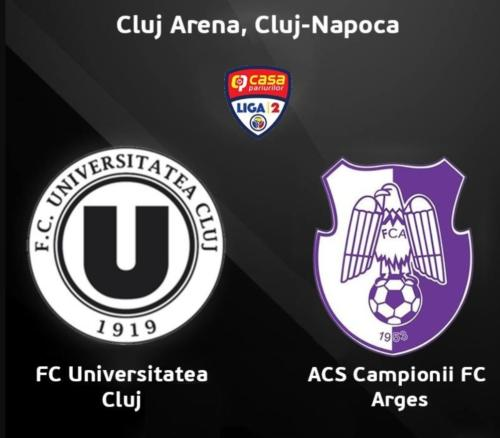 Ponturi U Cluj-FC Arges fotbal 21-februarie-2020 Liga 2