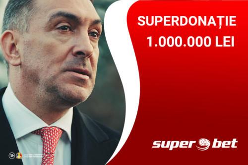 SUPERBET donează 1.000.000 de Lei pentru lupta împotriva COVID-19