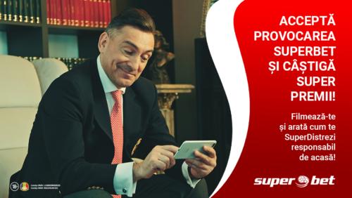 Accepta provocarea SUPERBET si castiga super premii! #SuperStamAcasa