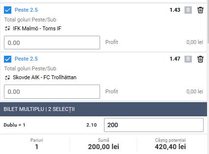 Biletul zilei fotbal Alyn – Sambata 21 Martie 2020 – Cota 2.10 – Castig potential 420 RON
