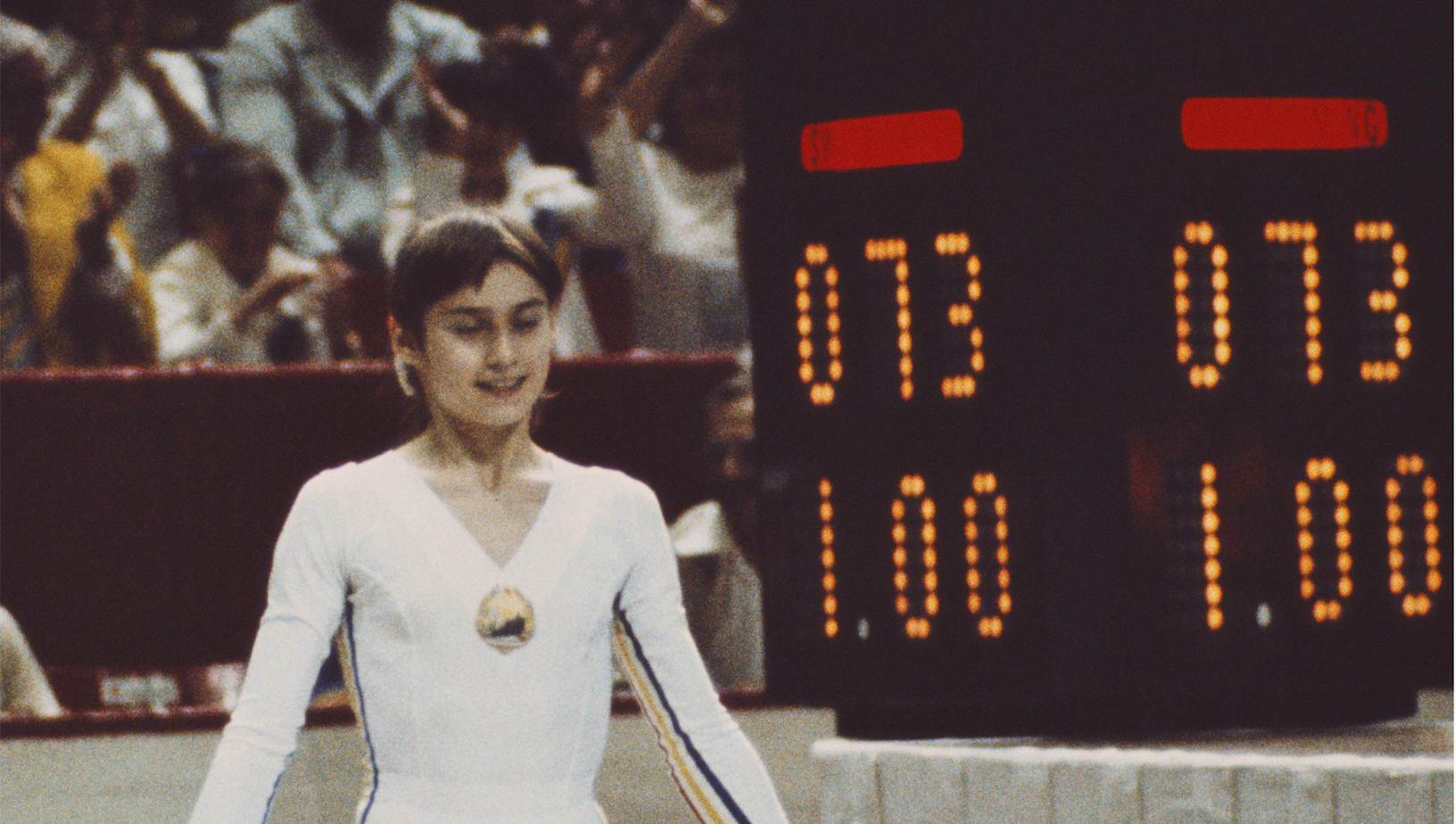 Nadia Comaneci la Jocurile Olimpice de la Montreal