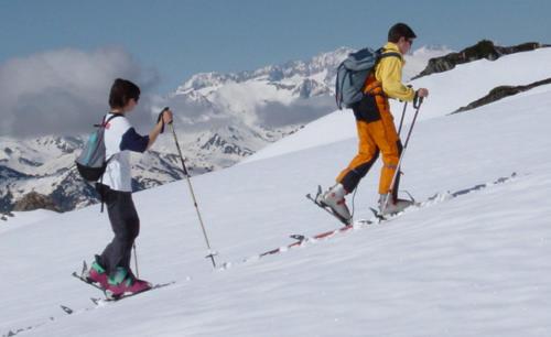 ski de tura prindere calcai