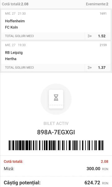 Biletul zilei fotbal Tudor – Miercuri 27 Mai 2020 – Cota 2.08 – Castig potential 624 RON