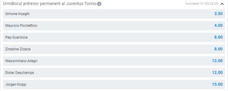 Antrenor Juventus Betano