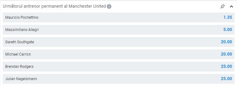Antrenor Manchester United Betano