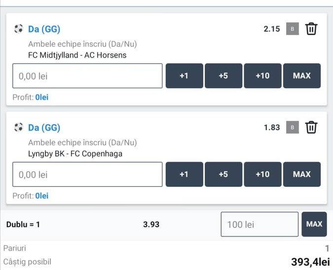 Biletul zilei fotbal Tudor – Luni 01 Iunie 2020 – Cota 3.93 – Castig potential 393 RON