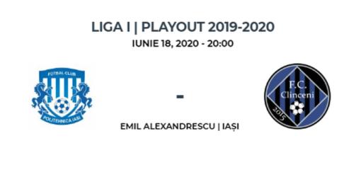 Ponturi Poli Iasi vs Academica Clinceni fotbal 18 iunie 2020 Liga I