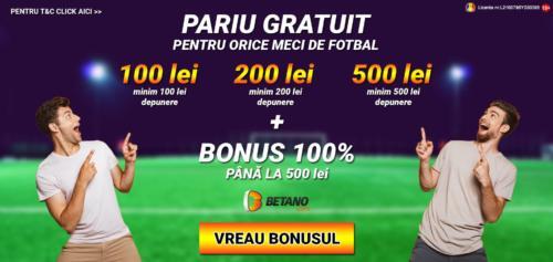 Super promotia verii la BETANO: pana la 500 RON pariu gratuit pentru orice meci de fotbal!